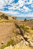 Landscape on Island of the Sun, Titicaca Lake, Bolivia