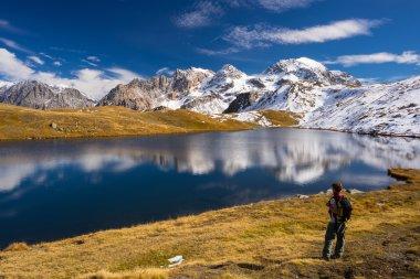 Exploring the Alps in autumn season