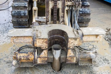 Borehole for soil testing or environmental survey