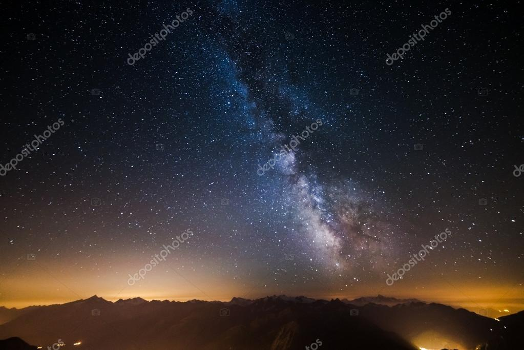 The Milky Way viewed from high up in the Alps