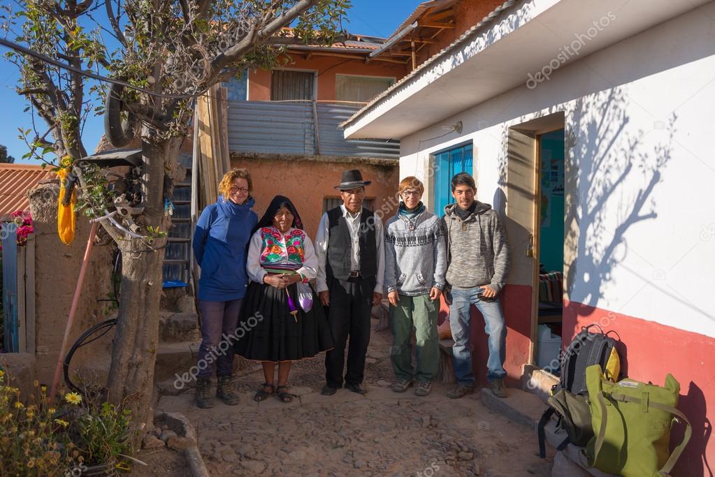 Hospitality on Amantani' Island, Titicaca Lake, Peru