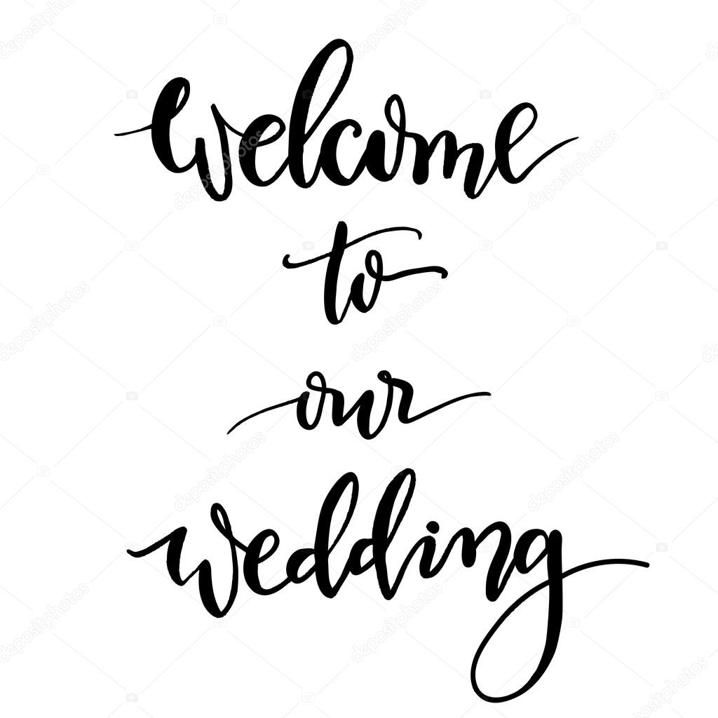 Welcome to our wedding hand lettering and calligraphy vector th welcome to our wedding hand lettering and calligraphy vector th stock vector junglespirit Image collections