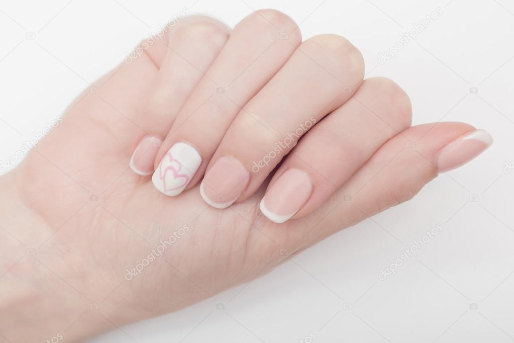 nails, white, natural, nail, female, finger, isolated, woman, care ...