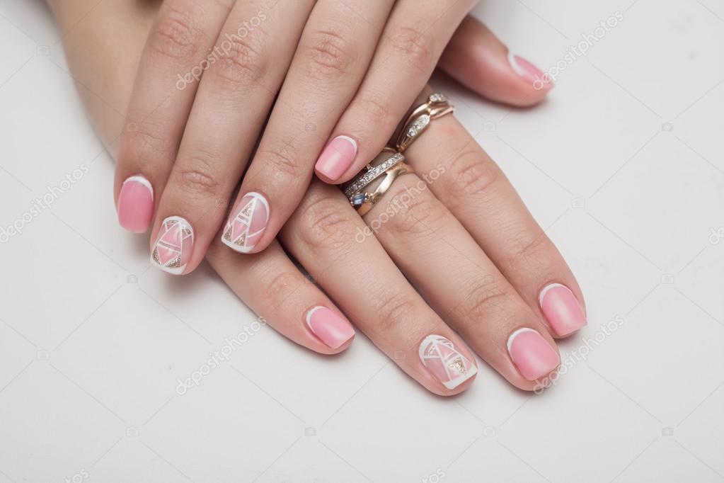 Nails Gel Hand Stock Photo Volniy 87479808