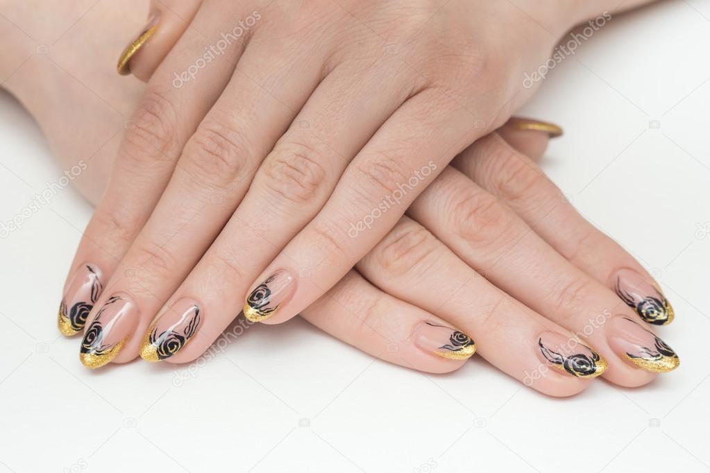 Nail Nails Art Gold Salon Manicure White Beauty Beautiful