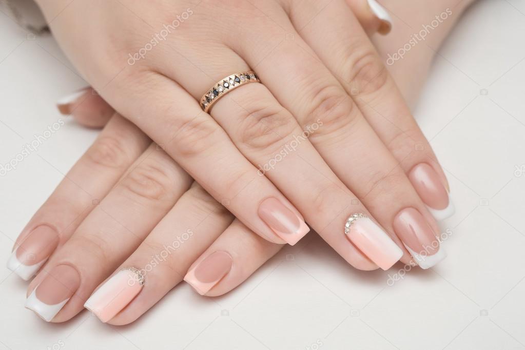 nails, manicure, beauty, nail, french, woman, — Stock Photo © volniy ...