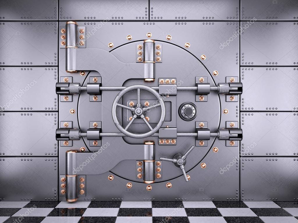 Porte de chambre forte sécurisé de la Banque dans le secteur ...