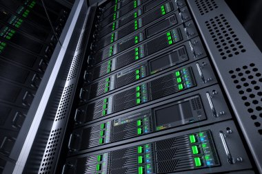 Server rack database. Telecommunication equipment.