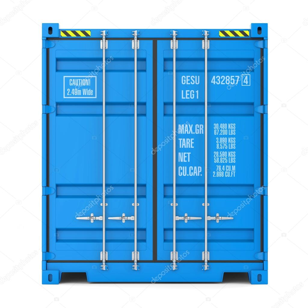 cargo container texture front view � stock photo