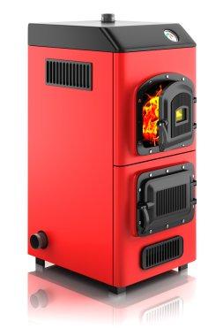Solid fuel boiler.