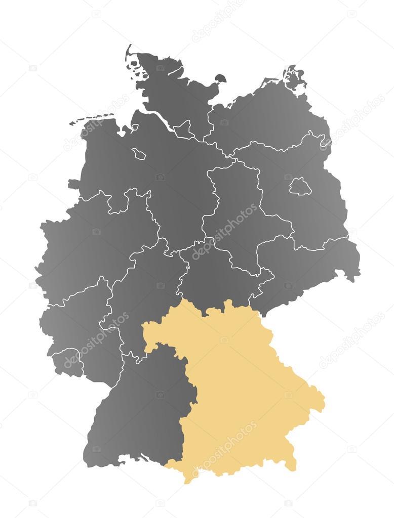 Bayern Karte Deutschland Stock Photo C Depogross 66896941