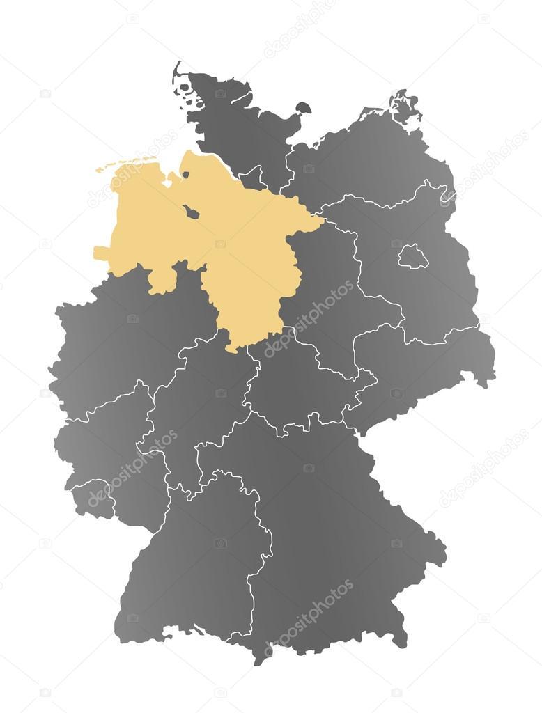 Niedersachsen Karte Deutschland Fotos Imagens De C Depogross 66897031