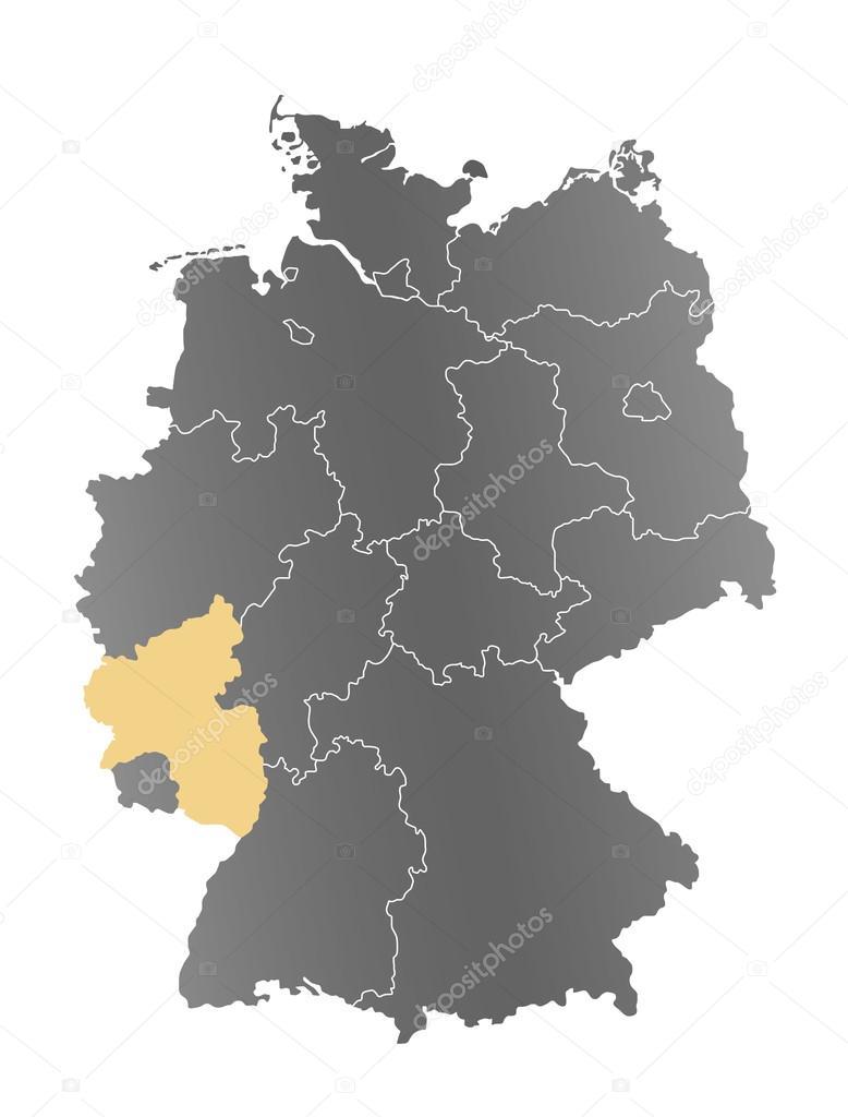 Rheinland Pfalz Karte Deutschland Stock Photo C Depogross
