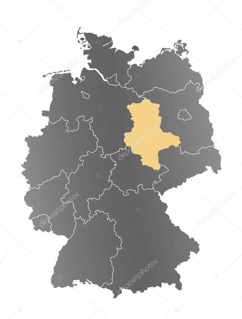 Sachsen Anhalt Karte Deutschland Stock Photo C Depogross 66897167