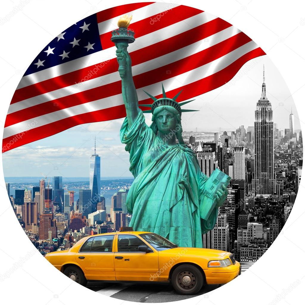 Symbols of new york city stock photo antoniogravante 121928636 symbols of new york city stock photo buycottarizona Image collections