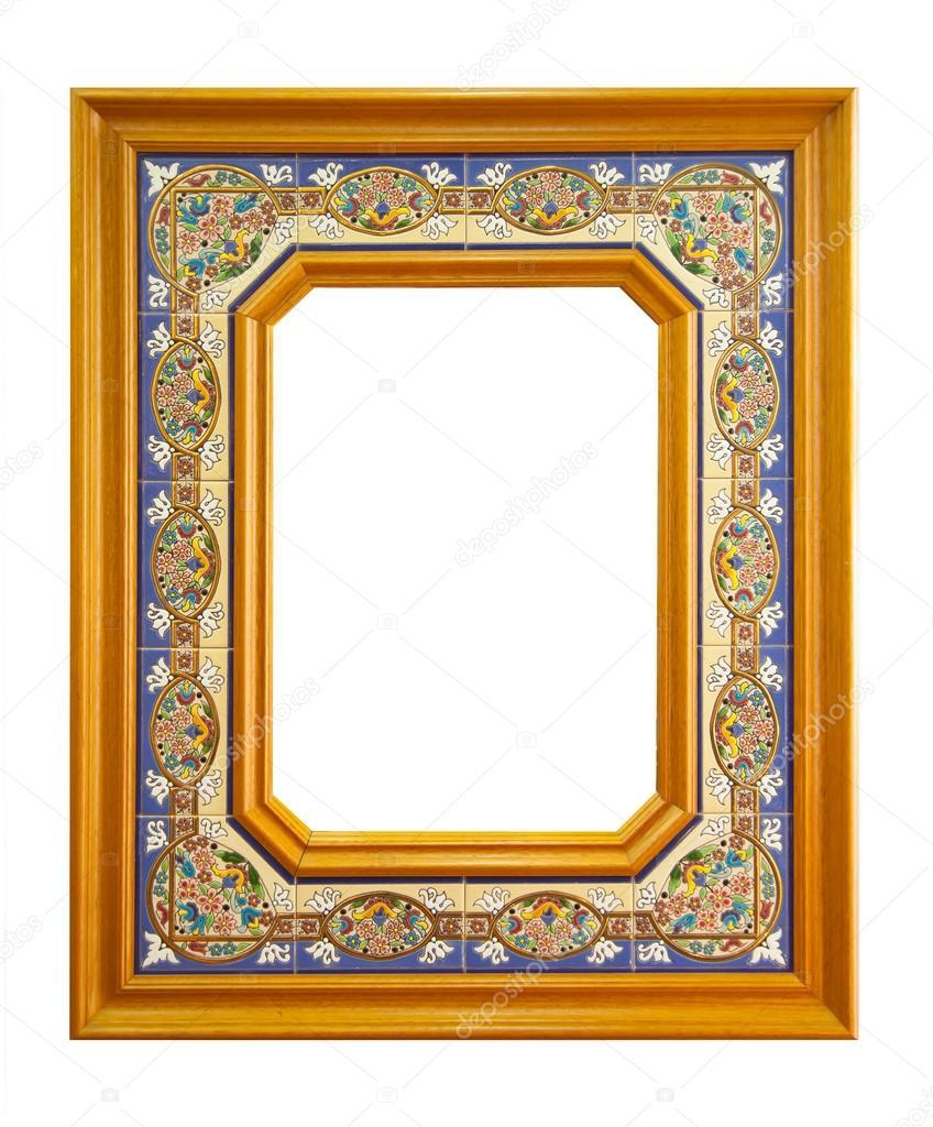 Empty Frame Made Of Ceramic Tiles Stock Photo Antoniogravante