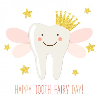 greeting card for Tooth Fairy Day