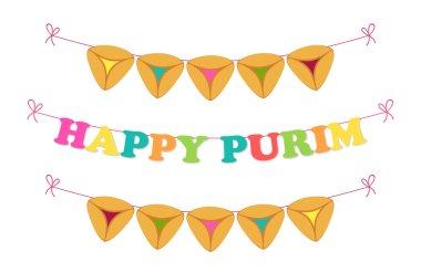 Happy Purim bunting flags