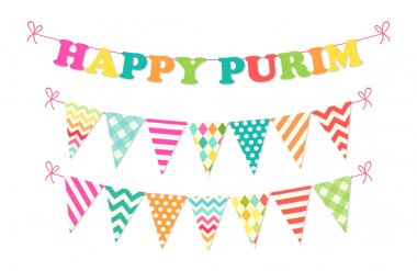 Happy Purim bunting flags