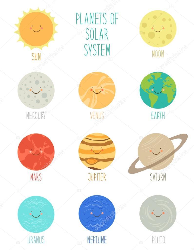 Dibujos Dibujo Planetas Sistema Solar Personajes De