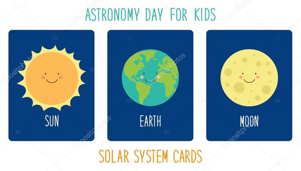 personajes de dibujos animados de planetas del sistema solar ...
