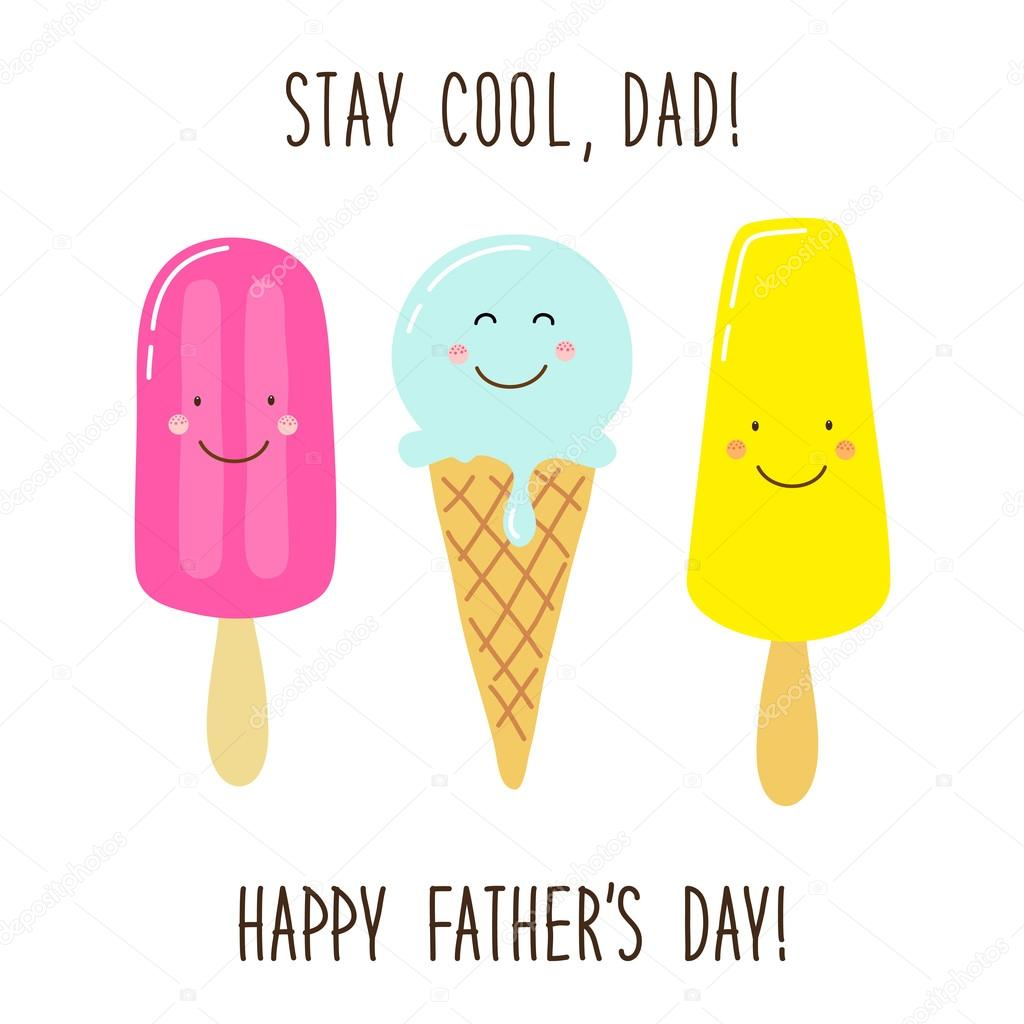 Fathers day greeting card stock vector ishkrabal 113676154 funny unusual hand drawn fathers day greeting card with cute cartoon characters of ice cream and comic hand written text vector by ishkrabal kristyandbryce Gallery