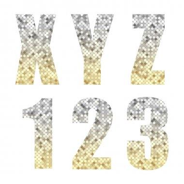 Beautiful trendy glitter font