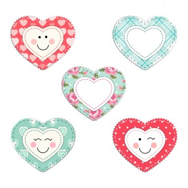 Cute fabric hearts