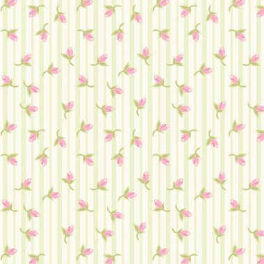 Vintage pattern with tiny flowers