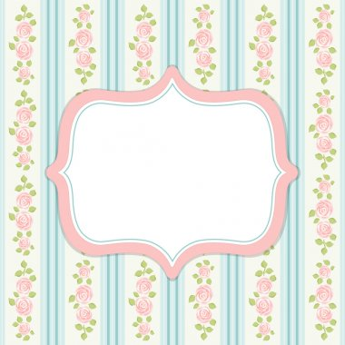 Retro frame in shabby chic style