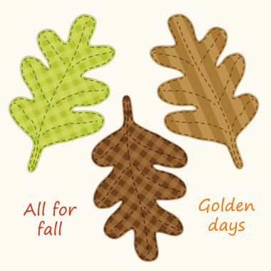 Cute handmade autumn leaves