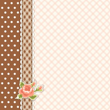 Classic vintage striped background with textile ribbon border