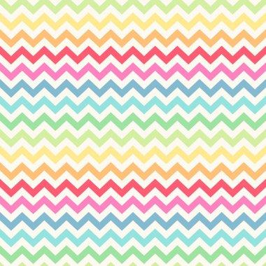 Cute retro chevron seamless pattern