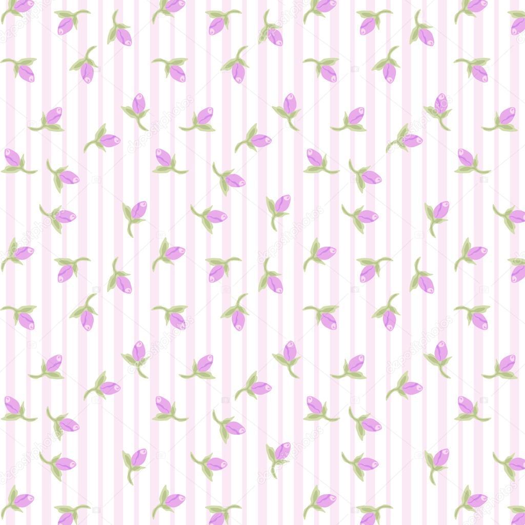patrón de vendimia con pequeñas flores — Archivo Imágenes ...