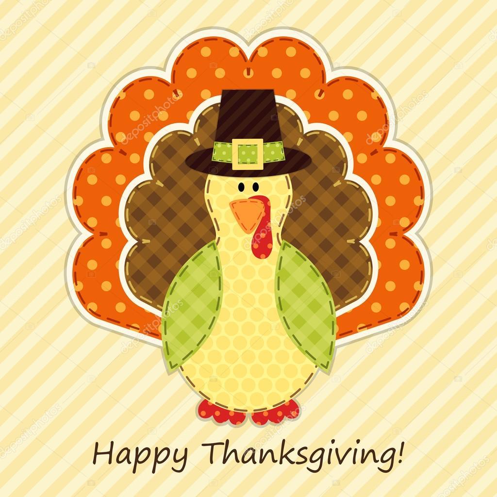 hübsch Thanksgiving-Truthahn — Stockvektor © IShkrabal #53824539