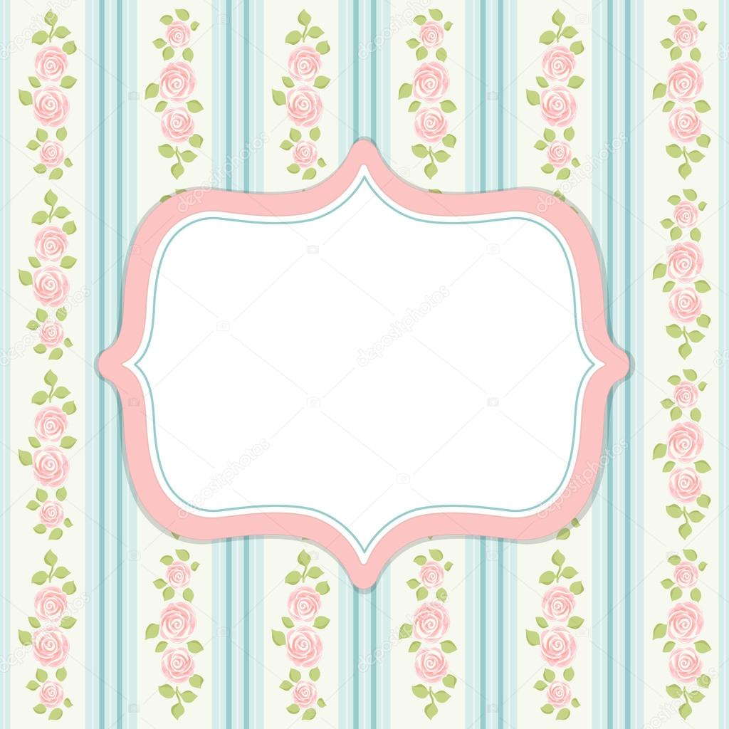 Retro Frame In Shabby Chic Style Stock Vector 53824605