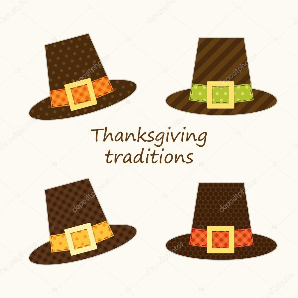 sombrero de peregrino lindo de acción de Gracias — Archivo Imágenes ...