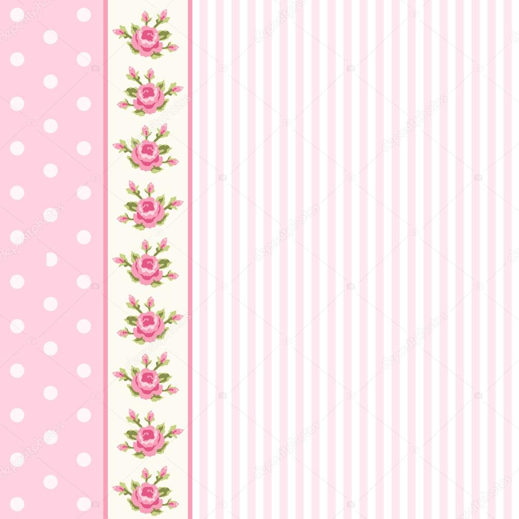 Classic Vintage Striped Background With Textile Ribbon Border In Shabby Chic Style Ideal As Album Cover Or Baby Shower Card Vector By IShkrabal