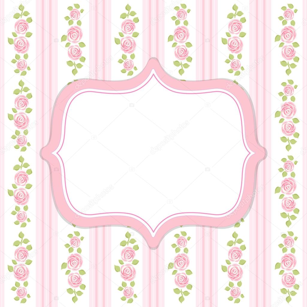 retro frame in shabby chic style stock vector. Black Bedroom Furniture Sets. Home Design Ideas