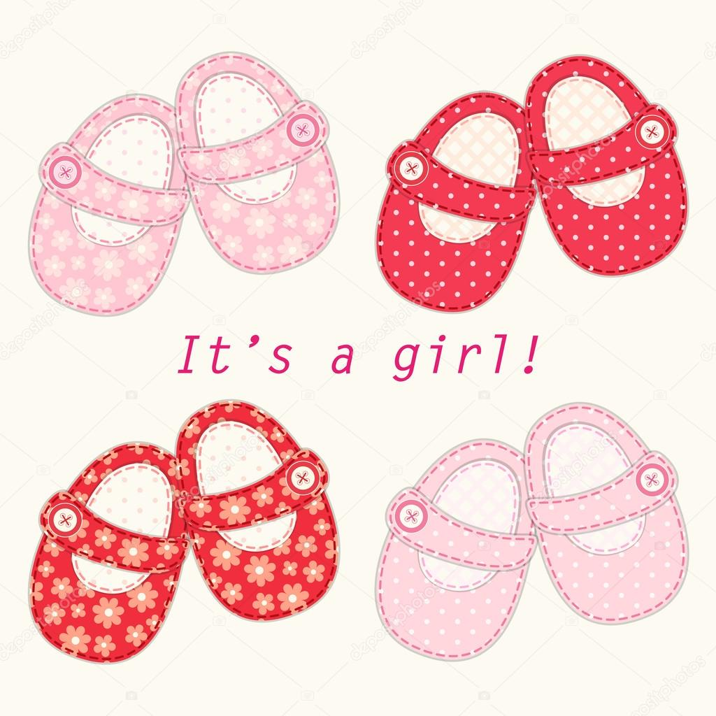 Baby girl shoes — Stock Vector © IShkrabal #59598533