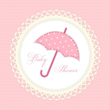 Cute vintage baby shower card