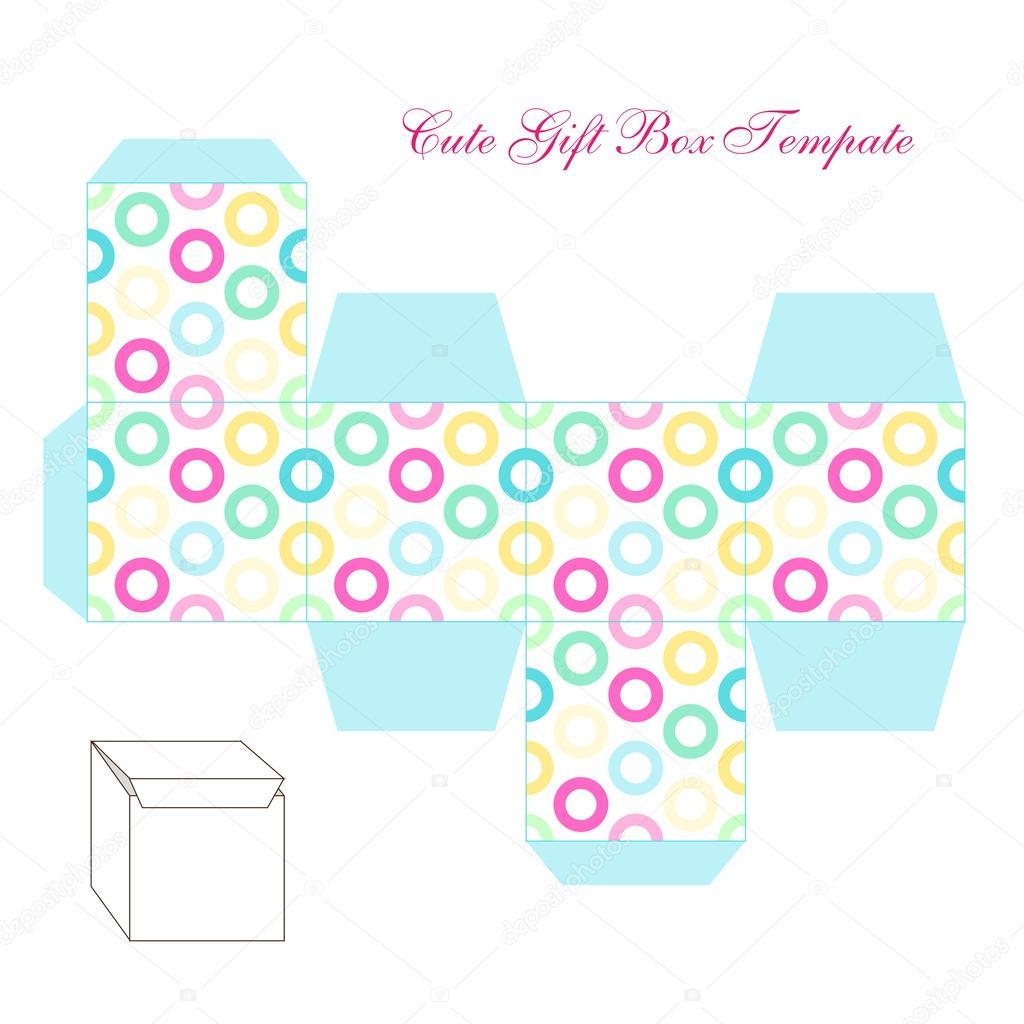 retro square gift box template — Stock Vector © IShkrabal #61637749