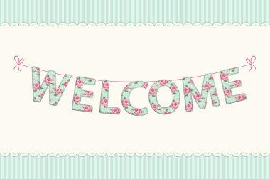 Welcome inscription handmade garland