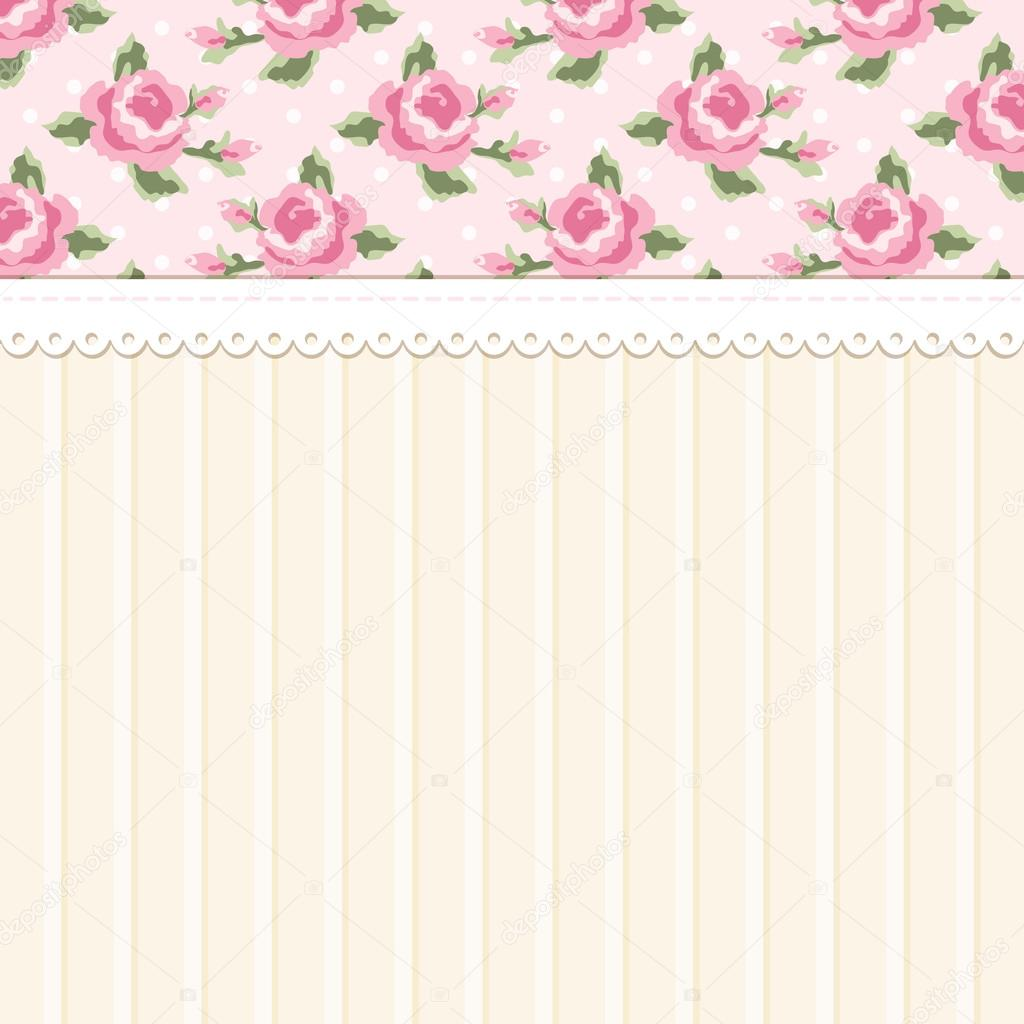 Cute Vintage Shabby Chic Background With Roses Ideal For Wedding Bridal Or Baby Shower Invitation Album Cover Retro Cards Wallpapers Vector By