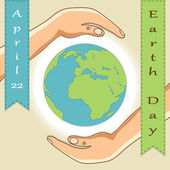 Fotografie Earth Day  card
