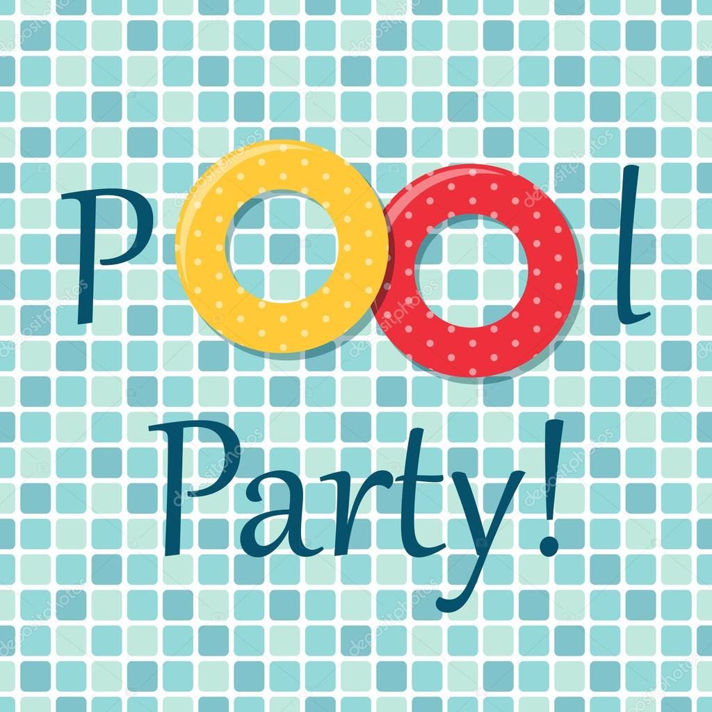 Pool party background