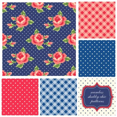 Shabby Chic patterns with roses