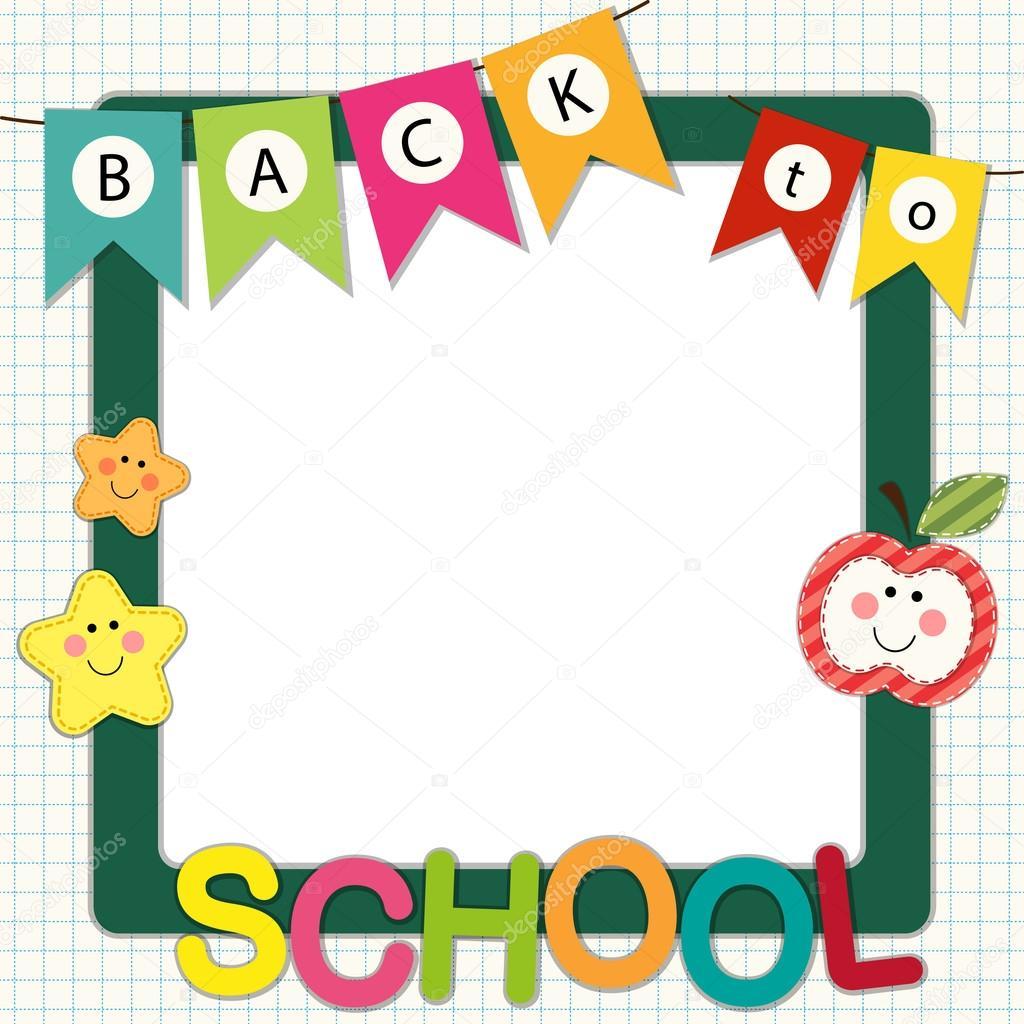 Cute Back to School frame — Stock Vector © IShkrabal #79768028