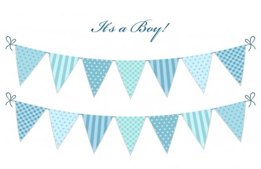 flags for boy's baby shower