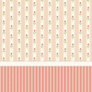 vintage wallpaper with shabby chic roses